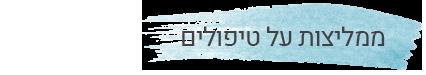 כותרת של ממליצות על טיפולים של שירן סרור